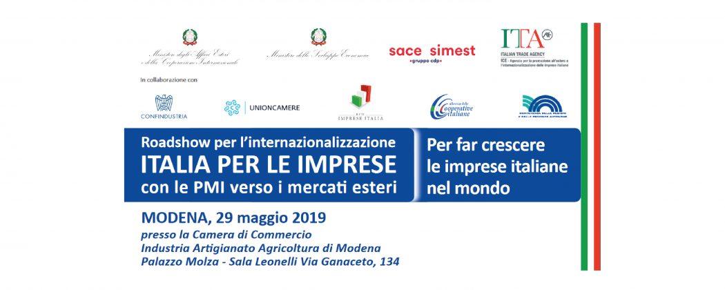 Roadshow per l'internazionalizzazione – Modena, 29 maggio – Scarica il programma