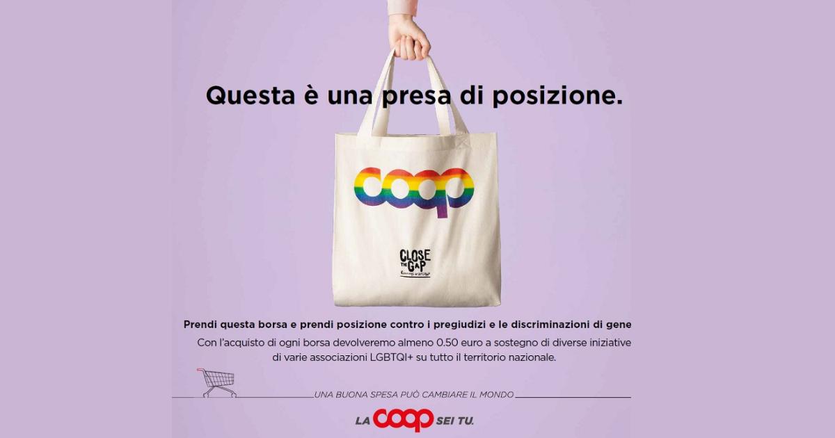 Coop Alleanza 3.0 a fianco della Comunità LGBTQ+