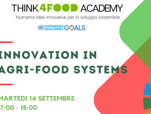 "Think4Food Academy webinar gratuito ""Innovation in Agri-Food Systems"""